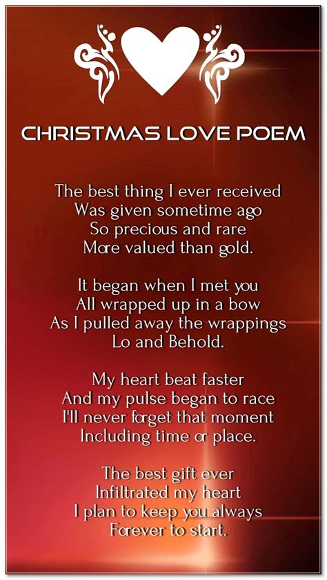 merry christmas love poems