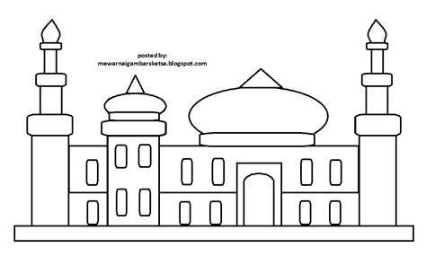 mewarnai gambar mewarnai gambar masjid yuuk