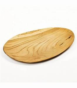 Plateau De Bois : plateau d coratif en bois de teck ovale ~ Teatrodelosmanantiales.com Idées de Décoration