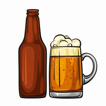 Beer Bottle Cartoon Clip Mug Glass Cerveja