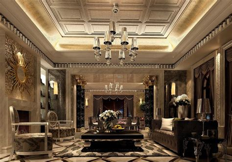 More Classic Interior Designs by Neoclassical Style Living Room Interior Design With