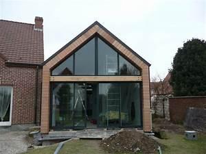extension bois maison beauvais 60 home pinterest With beautiful maison toit plat bois 0 extension maison agrandissement ossature bois