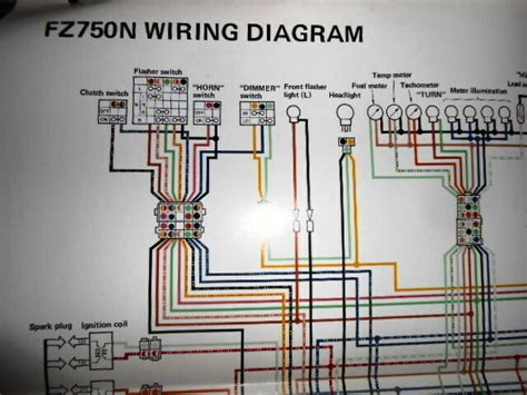 yamaha oem factory color wiring diagram schematic 1985 fz750n ebay