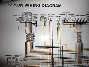 Yamaha Oem Factory Color Wiring Diagram Schematic 1985 Fz750n