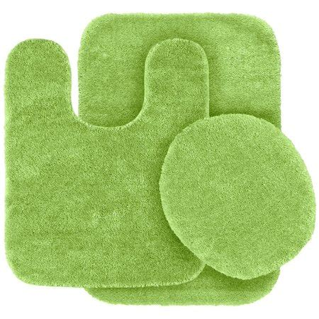 pc lime green bathroom set bath mat rug contour