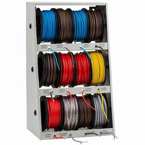 Grip Tools 43111 Wire Spool Rack With 400 Ft  Of Assorted Wire