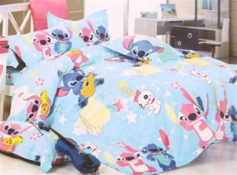 2015 new disney lilo stitch bedding set 4pc for queen