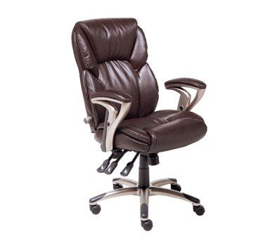 serta leather multifunction managers chair brown