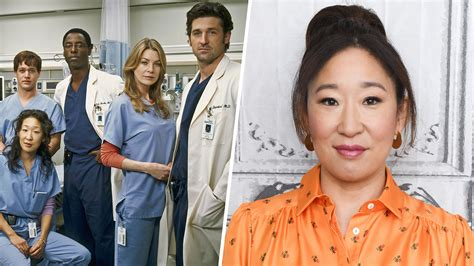 sandra oh on grey s anatomy sandra oh s grey s anatomy co stars celebrate her