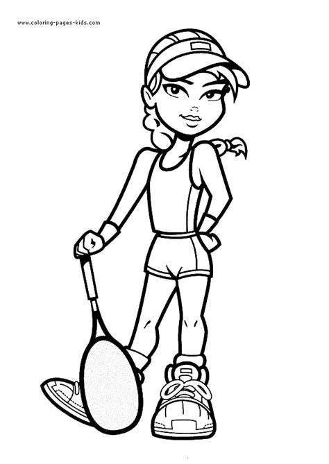 tennis coloring pages  kids