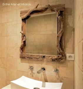 salle de bain en bois flotte entre mer et marais With meuble salle de bain bois flotté