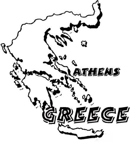 map greece coloring page supercoloringcom