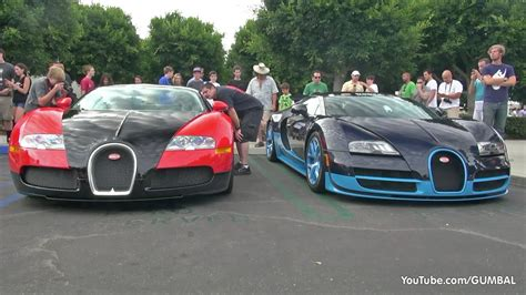 Sport Vs Supersport by 1200hp Bugatti Veyron Grand Sport Vitesse Start Up