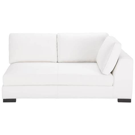 canape cuir droit canapé convertible modulable droit en cuir blanc terence