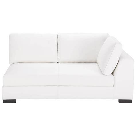 canapé cuir blanc convertible canapé convertible modulable droit en cuir blanc terence