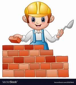 Cartoon Man Builder Royalty Free Vector Image