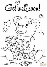 Soon Coloring Well Pages Printable Better Cards Feel Card Teddy Bear Hope Supercoloring Crafts Adult Colouring Sheets Printables Drawing Getcolorings sketch template