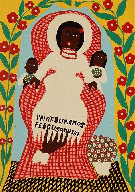 famous caribbean artist amos ferguson folk painting