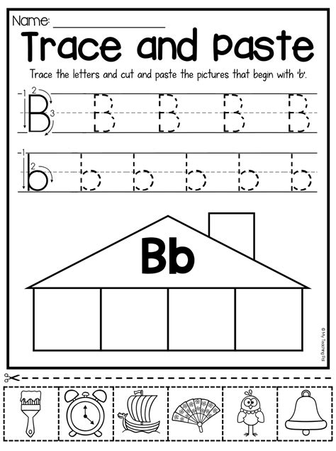 beginning sounds worksheets trace and paste lower