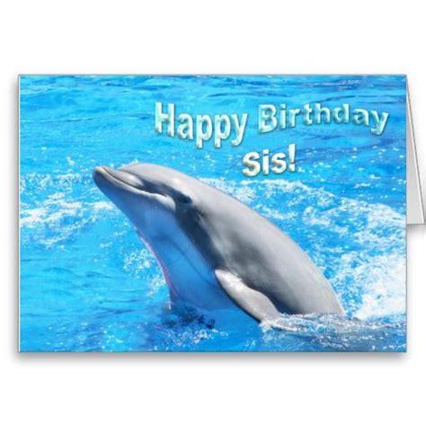 happy birthday sis dolphin card zazzlecom feliz