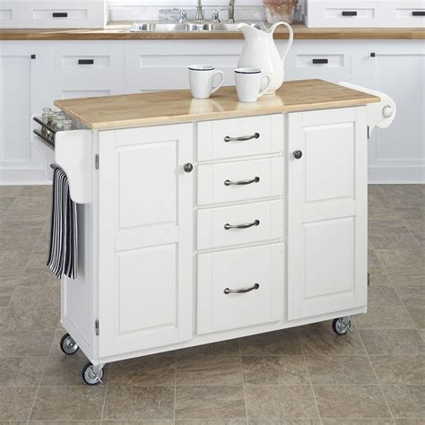 white kitchen cart island shop home styles white scandinavian kitchen carts at lowes com