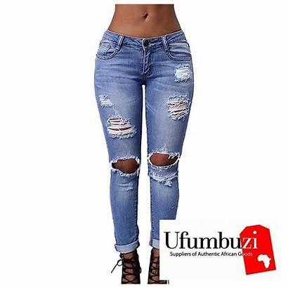 Ripped Jeans Skinny African Pants Slim Ufumbuzinow