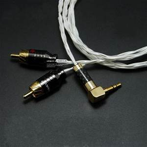 Hifi 3 5mm To 2 Rca Audio Cable For Computer Amplifier