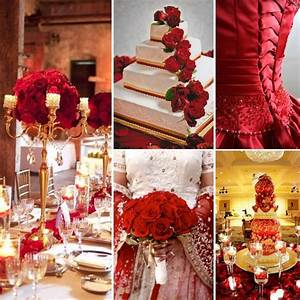 red gold wedding inspiration linentablecloth With wedding decoration red and gold