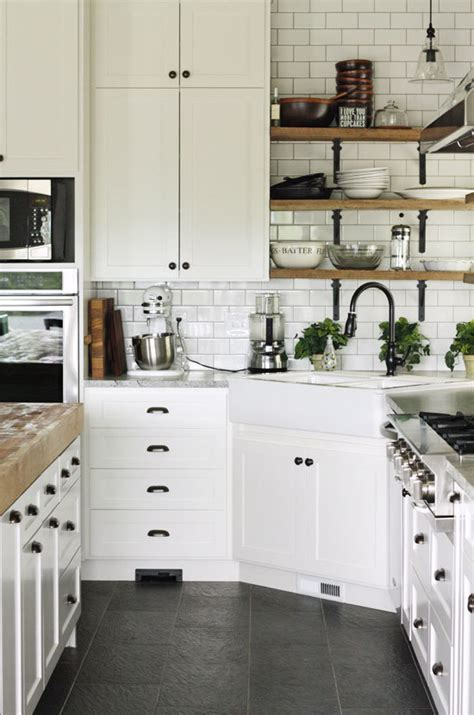 Kitchen Restoration Ideas - black hardware kitchen cabinet ideas the inspired room