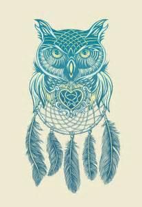 Owl Dream Catcher Tattoo Drawing