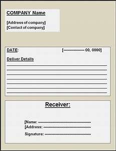 Delivery Receipt Template Free Printable Word Templates,
