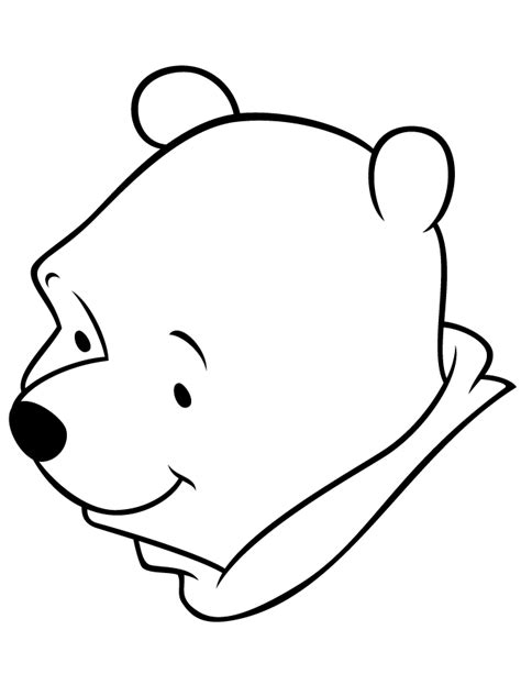 easy winnie  pooh bear  toddlers coloring page