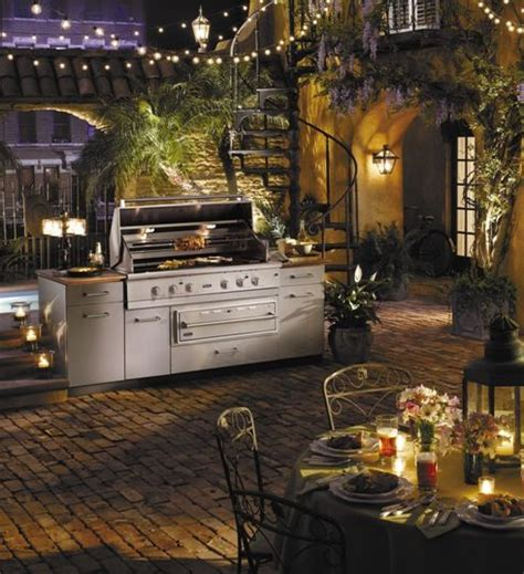 string lights for kitchen outdoor kitchen grill courtyard w string lights outdoor 5905