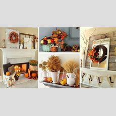 24 Best Fall Mantel Decorating Ideas And Designs For 2016
