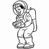 Coloring Astronaut Record Printable Camera Smiling Getcolorings Astronauts Getdrawings Preschool sketch template