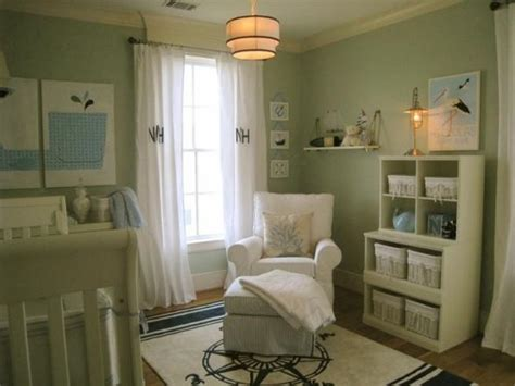 green curtains contemporary nursery sherwin williams