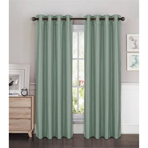 Wide Curtains by Window Elements Semi Opaque Faux Silk Wide 84 In
