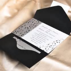 white wedding invitations black and white pocket wedding invitations ukps014 ukps014 0 00 cheap wedding
