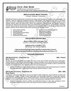 music teacher resume sample With great teacher resumes