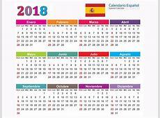 Calendário 2018 Espanho Calendários 2018 Espanhol