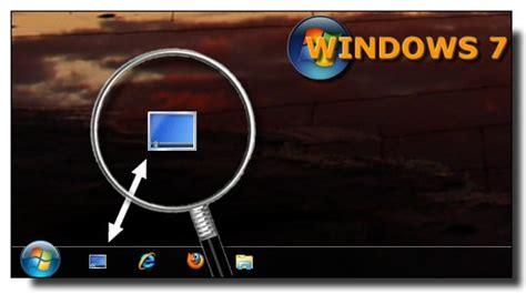 afficher icone bureau windows 7 ajouter le raccourci afficher le bureau dans