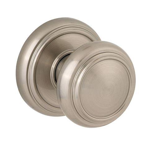 closet door knobs baldwin prestige alcott satin nickel closet door knob