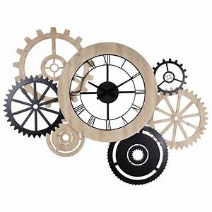 Horloge Murale Maison Du Monde : horloge bicolore horloge deco appartement et horlogerie ~ Teatrodelosmanantiales.com Idées de Décoration