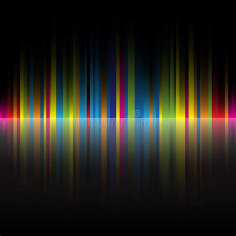 Abstract Rainbow Black Background by Abstract Rainbow Colors Black Background Stock Vector