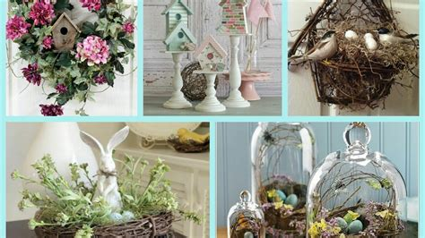 Spring Decor With Nests And Birdhouses