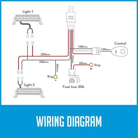 wiring loom harness  led hid fog spot work driving