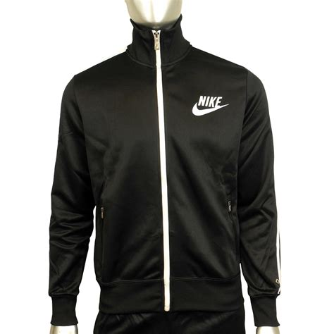 Track Jacket by Mens Boys Nike Black Polyester Suit Tracksuit