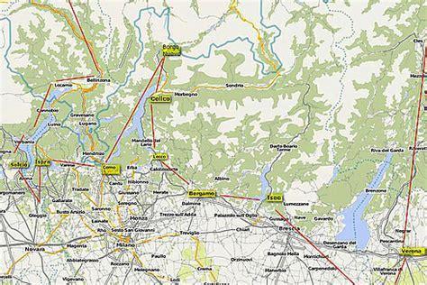 Oberitalienische Seen Karte