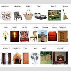Furniture Vocabulary 250+ Items Illustrated Eslbuzz