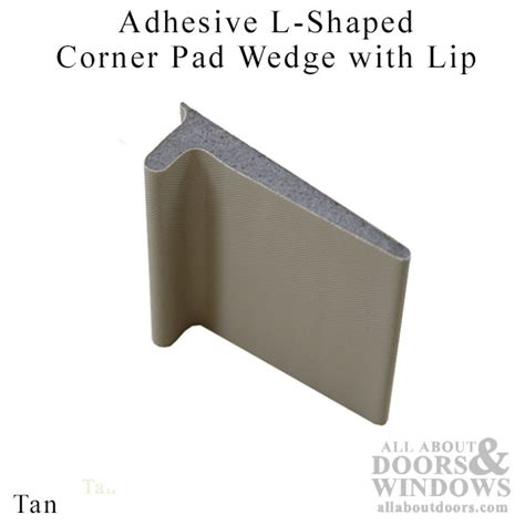 parts for glass shower doors endura adhesive l shaped corner pad wedge with lip